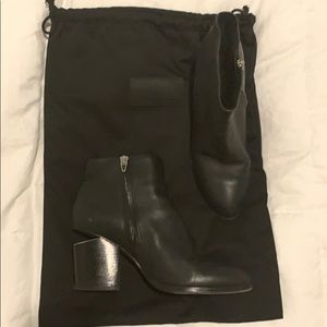 ALEXANDER WANG - faux fur lined booties